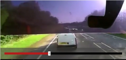 Dashcam shows lorry ploughing into cars in Stratford